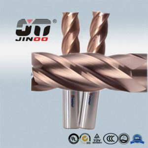 Jinoo 4 Flutes HRC50 Solid Carbide End Mill Cutting Tools pictures & photos