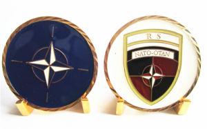 Wholesale Gold Nato Souvenir Metal Coin with Diamond Edge