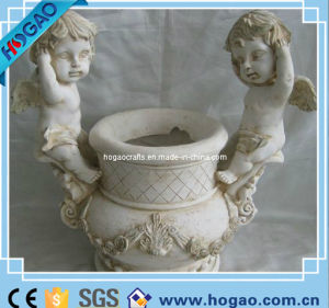 Antique Resin White Angel Flower Pot Garden Planter pictures & photos