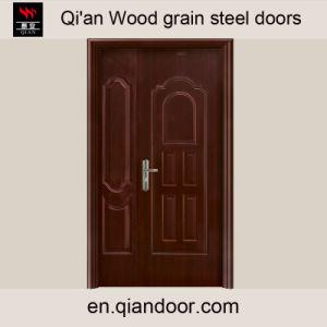 Black Walnut Veneer Steel Fire Door pictures & photos
