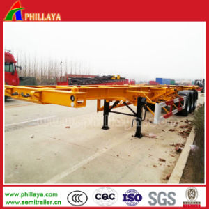 Phillaya 3 Axle Skeletal Container Semi Trailer / Container Trailer pictures & photos