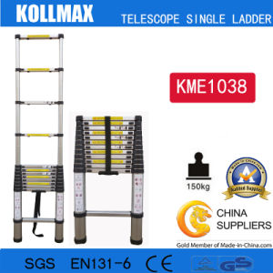 Magic Aluminum Telescopic Single Ladder with En131 CE GS Kme1038 pictures & photos