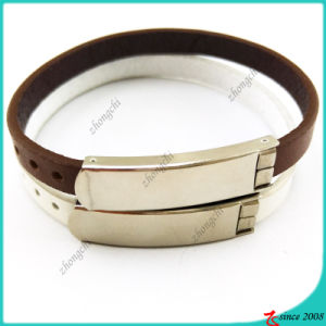 Brown Leather Bracelet with Buckle for Man Decoration (LB16041949)