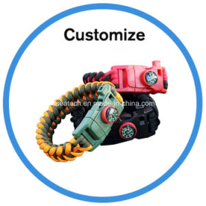 Custom Survival Paracord Bracelet pictures & photos