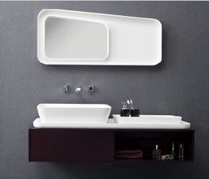 Fashion Acrylic Solid Surface Bathroom Cabinet pictures & photos