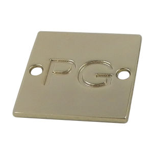 Customized Square Two Hole Gold Metal Tags pictures & photos