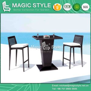 Synthetic Wicker Bar Stool Rattan Bar Table Outdoor Bar Set Rattan Club Stool (Magic Style) pictures & photos