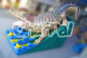 2016 New Design Inflatable Dinosaur Slide Dry Double Lane Slide pictures & photos
