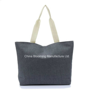 Canvas Lady Shopping Promotional Totes Carry Beach Shoulder Bag pictures & photos