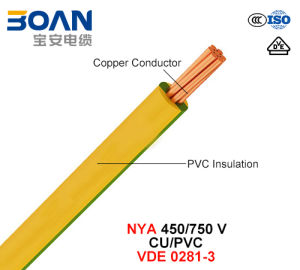 Nya, Electric Wire, 450/750 V, Cu/PVC (VDE 0281-3) pictures & photos