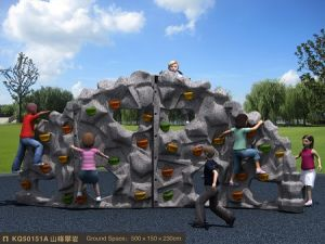 Kaiqi Rock Climbing Wall Play Equipment for Children′s Playground (KQ50151A) pictures & photos