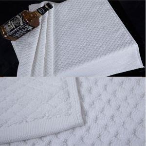 100% Cotton 32s White Color Bath Mat pictures & photos