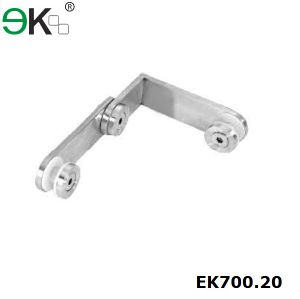 Stainless Steel Stair Handrail Corner Glass Clip