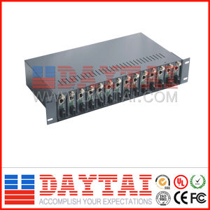 New Design Media Converter Chassis with 14 Ports pictures & photos