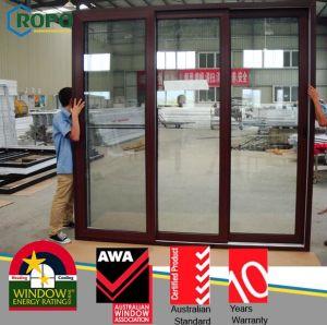 Wooden Grain PVC Interior Door with Glass Design pictures & photos