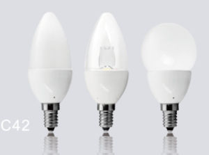 4.5W Dimmable C42 LED Candle Lamp with No Driver Design pictures & photos