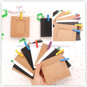 Promotion Gift Craft DIY Home Decorative Kraft Paper Photo Frame pictures & photos