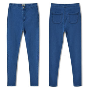 New Womens Pencil Stretch Skinny Denim Jeans pictures & photos