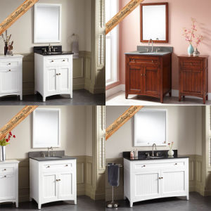 Fed-347A 30 Inch New Design Modern Solid Wood White Hotel Bathroom Cabinet Bathroom Vanities pictures & photos