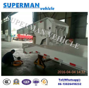 60t Gooseneck Separate Excavator Lowdeck Lowbed Hydraulic Semi Truck Trailer for Sales pictures & photos