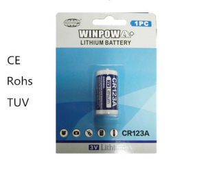 Winpow 3V Cr123A Lithium Battery 1 Packs pictures & photos