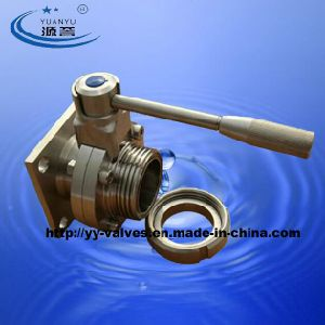 Wine Male/Flange Butterfly Valve Stainless Steel pictures & photos