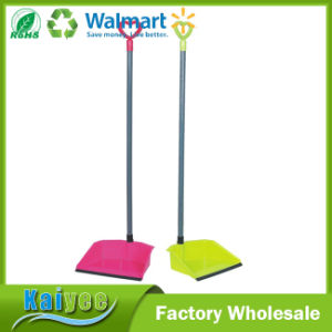 Fashion Household Thickening Plastic Dustpan with Long Handle pictures & photos