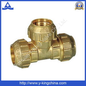 High Quality Brass Threaded Tee Nipple (YD-6048) pictures & photos