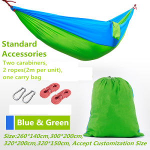 Travel Camping Multifunctional Hammock with Hanging Rope and Carabiners