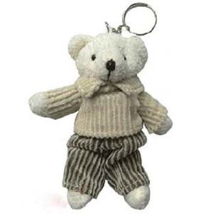 Plush Chocolate Bear Key Ring Toy pictures & photos