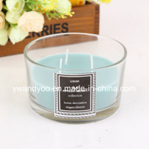 Scented Soy 3-Wicks Candle in Glass Jar for Wedding Decoration
