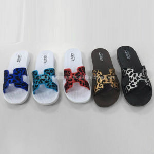 New Style Ladies EVA Leopard Print Slipper Beach Sandal (FY2016-1) pictures & photos