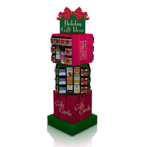 Creative Rotatable Paper Display for Gifts, PDQ Colored Cardboard Display pictures & photos