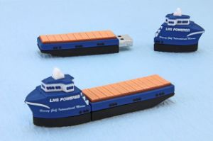 Ship Shape PVC USB Flash Drive