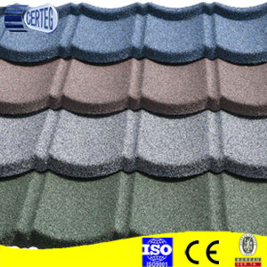 Africa sand coated steel chip stone metal roof tile pictures & photos