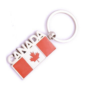 Canada Cheap Tourism Gift Metal Flag Key Chain Souvenir (F1215)