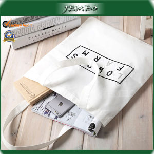 Custom Print Cheap Cotton Canvas Shopping Tote Handle Bag pictures & photos