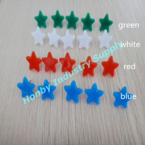 13mm Colored Plastic Head Star Shaped Thumb Tacks Pin (P160114A)