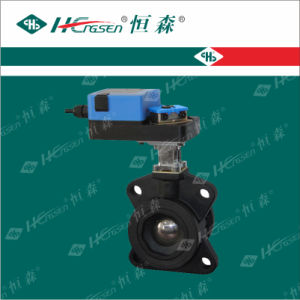 D Q F-E Iron Motorized Flange Ball Valve with Actuator pictures & photos