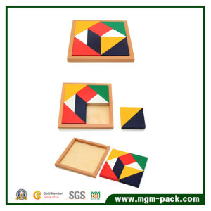 Certified 9 Colors Square Kids Wooden Puzzle pictures & photos
