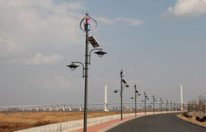 Wind Turbine and Solar 60W Street Lamp (SHJ-LDQ60) pictures & photos
