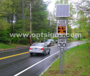 Outdoor LED Flashing Road Traffic Solar Radar Speed Detectors Sign pictures & photos