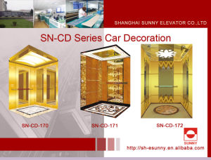 Elevator Cabin with Hairline Panel (SN-CD-170) pictures & photos
