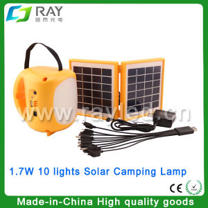 1.7W Rechargeable Outdoor LED Solar Camping Lantern