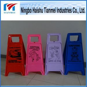 Customized Red PP Floor Sign, Caution Traffic Sign pictures & photos