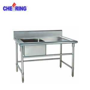 Restaurant Commercial Stainless Steel Working Table Sink pictures & photos