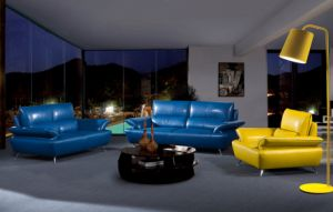 High Quality Modern Living Room Colorful Leather Sofa Furniture A020 pictures & photos