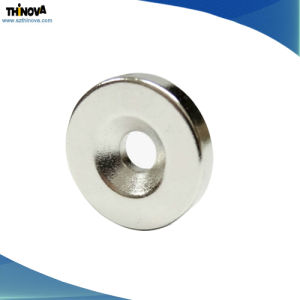 Wholesale Countersunk Hole Permanent NdFeB Magnet for Alternator/Brushless DC Motor pictures & photos