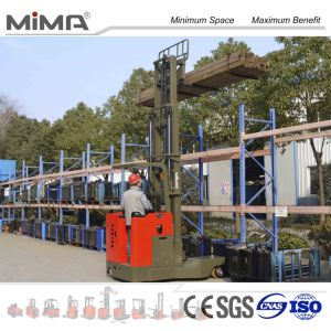4-Directional Electric Reach Truck Handling Long Material
