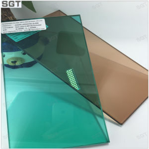 Laminated Glass 5mm Green and Tea Color with Ce pictures & photos